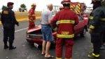Costa Verde: triple choque causó congestión hacia el Callao - Noticias de accidentes de tránsito