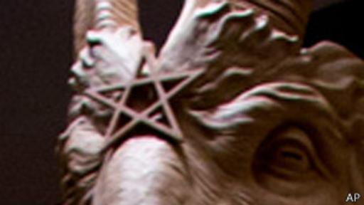 El pentáculo es ampliamente reconocido como un símbolo satánico y a menudo aparece de forma invertida