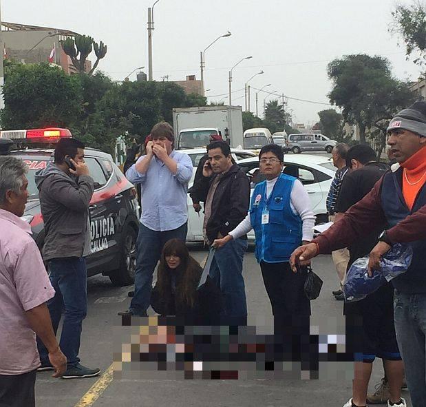 Accidente ocurrió al promediar las 11 de la mañana en la avenida La Paz. (Whatsapp / El Comercio)