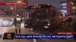 Bus del INPE invadió vía del Metropolitano y causó congestión - Noticias de inpe
