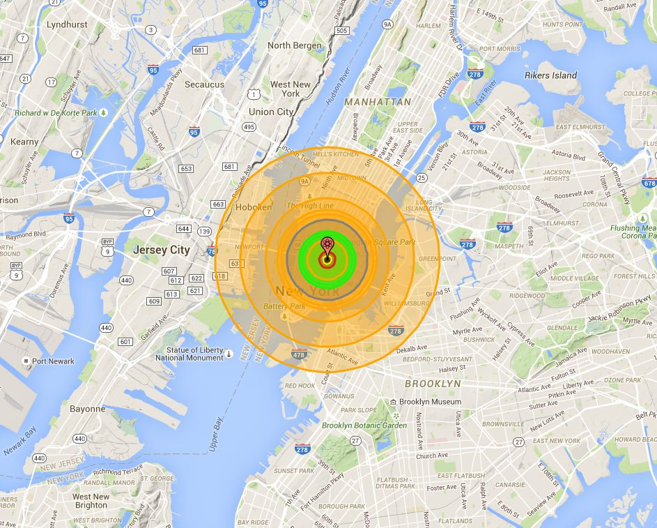 El efecto de una bomba como