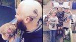 Padre se tatúa aparato auditivo en la cabeza para apoyar a hija - Noticias de nervio coclear