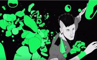 Caricatura de Neymar se enfrenta a aliens en comercial de TV