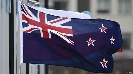 La actual bandera recuerda el pasado de Nueva Zelanda como colonia británica.