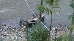 Huaraz: policía murió tras vuelco de su camioneta al río Santa - Noticias de accidente de transito