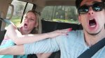 Mujer pensó que su auto iba a chocar contra un camión [VIDEO] - Noticias de accidentes automovilísticos
