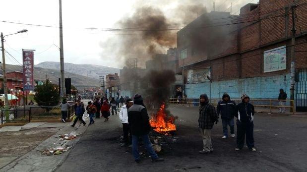 La Oroya: bloqueo en Carretera Central se agrava