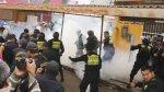 Transportistas desalojados lanzaron orina a personal municipal - Noticias de detenidos