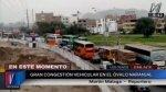 Los Olivos: así es la congestión vehicular en el Óvalo Naranjal - Noticias de rutas alternas