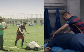 Mira a Neymar de jardinero e Iniesta de masajista en el Barza