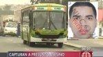 Cae presunto asesino de policía que quiso impedir asalto a bus - Noticias de antecedentes penales