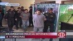 Catorce detenidos durante megaoperativo en Lima Sur - Noticias de operativos policiales