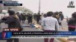 Ciclista murió atropellado durante protesta en la Costa Verde - Noticias de accidente de transito