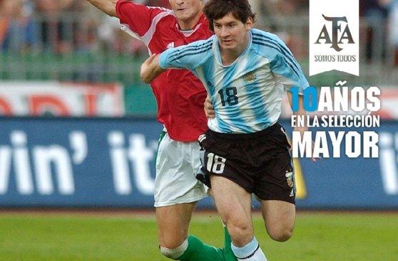 Messi: momentos claves en diez años con la selección Argentina