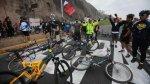 Costa Verde: ciclistas bloquearon vía por muerte de compañero - Noticias de accidente de transito