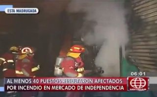 Incendio en mercado de Independencia afectó 40 puestos [VIDEO]