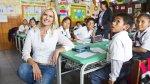 Valeria Mazza visitó colegio de Comas para inaugurar taller - Noticias de valeria mazza