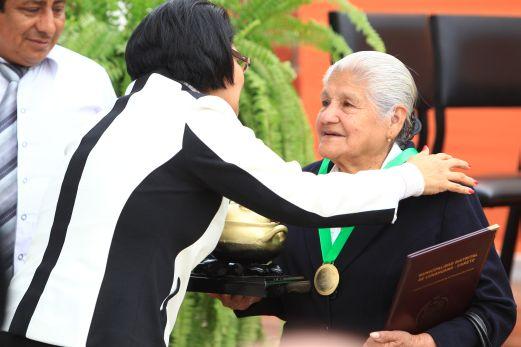 Melchorita Villanueva Sánchez, la cocinera de Lunahuaná, recibió el premio La Olla de Oro.