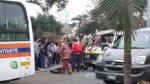 Choque en Lince: ocho heridos tras colisión de combi y coaster - Noticias de accidente de transito
