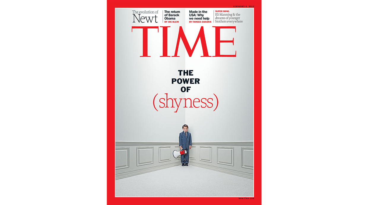 Portada de la revista Time: The power of the shyness (febrero 2012)