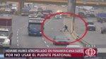Surco: pese a accidentes como este peatones no usan los puentes - Noticias de atropello