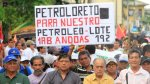 Loreto: realizan marcha pacífica por licitación del Lote 192 - Noticias de julio melendez