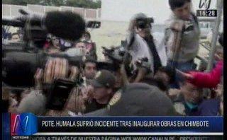Simpatizantes de Waldo Ríos arrojaron arena a Humala [VIDEO]