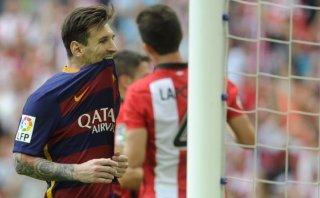 Barcelona: Messi erró este penal contra el Athletic de Bilbao