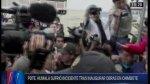Simpatizantes de Waldo Ríos arrojaron arena a Humala [VIDEO] - Noticias de freddy otarola