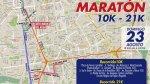 Hoy se cierran estas calles por la media maratón de Lima - Noticias de augusto miro quesada