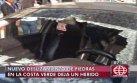 Costa Verde: piedra cayó de acantilado y dejó un taxista herido