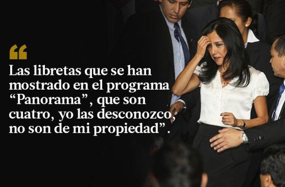Nadine Heredia rechaza agendas: las 10 frases de su defensa
