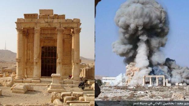 El Estado Islámico muestra imágenes de la destrucción del histórico templo de Baal