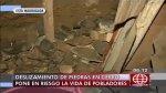 Vivienda rústica en cerro de Comas dañada por caída de piedras - Noticias de temblor