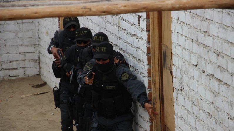 La Subunidad de Acciones Tácticas (SUAT)de la Policía Nacional del Perú (PNP) inició operaciones hoy en Trujillo. (Foto: Johnny Aurazo / El Comercio)