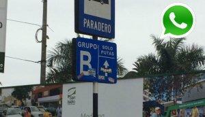 WhatsApp: alteran señal de tránsito en San Isidro