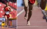 El atleta que corrió 5.000m del Mundial con los pies descalzos
