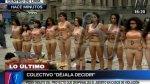 Protestan semidesnudas para exigir despenalización del aborto - Noticias de violaciones sexuales