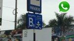 WhatsApp: alteran señal de tránsito en San Isidro - Noticias de rutas