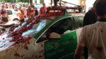 Así quedó el auto de Google que iba a fotografiar la Tomatina - Noticias de street view