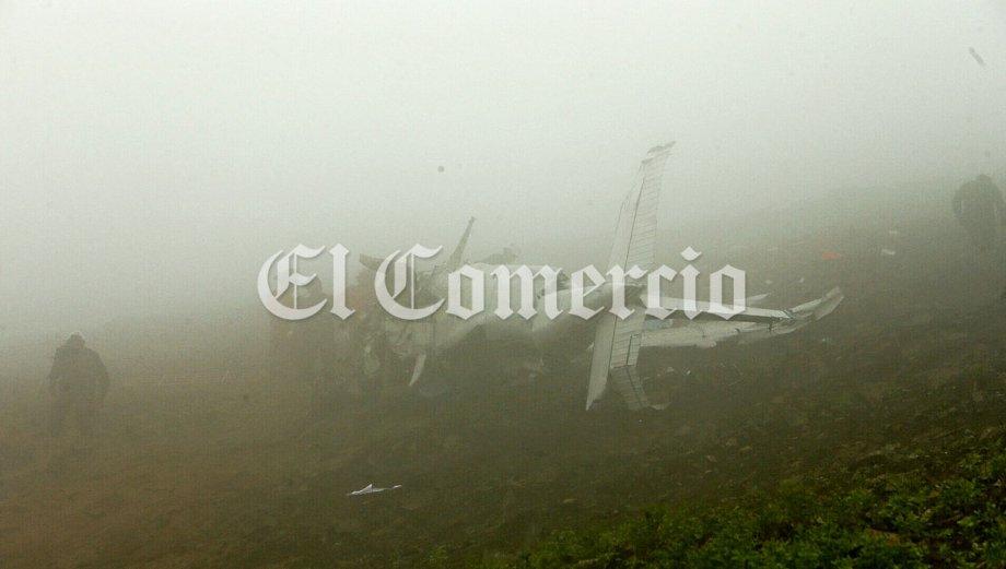 Así quedó avioneta que se estrelló en Villa María del Triunfo