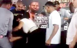 Boxeador toca a novia de su rival y desata tremenda pelea