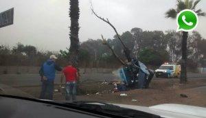 WhatsApp: accidente en la Panamericana Sur deja un muerto