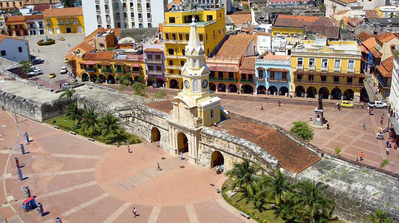 El reloj de Cartagena, lugar del inicio del tour. (Foto: Aníbal Gutiérrez / Foodies)