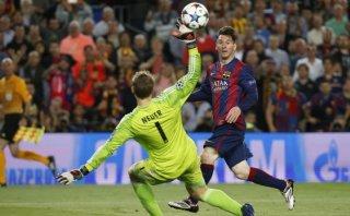 Lionel Messi anotó el mejor gol de la temporada en Europa
