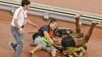 Usain Bolt: cuadro x cuadro del accidente con el camarógrafo - Noticias de accidente