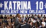 Obama reconoce logros de Nueva Orleans tras 10 años de Katrina