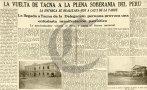 A 86 años de la reincorporación de Tacna al Perú