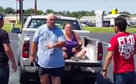 Vieron que un sujeto agredía a mujer y la defendieron [VIDEO]