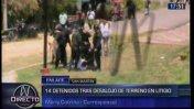 San Martín: tres heridos y 14 detenidos tras desalojo en Lamas